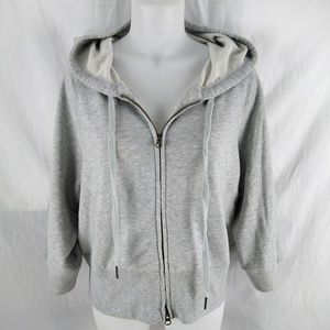 VSX Cropped Hoodie Large Gray Victorias Secret